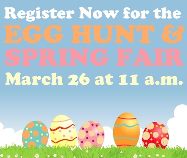 egg hunt register now