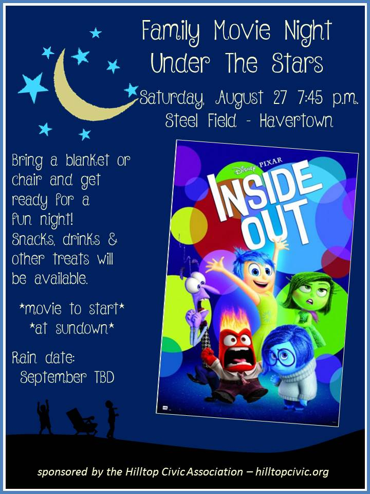 Inside Out Movie Night Poster