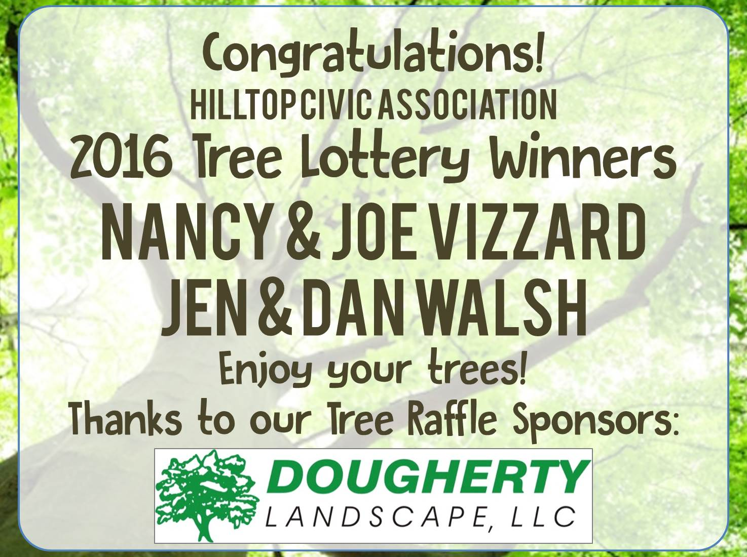 Tree Winners for FB